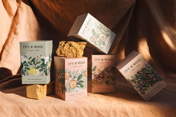 Botanical Candle Collection Ivy and Wood