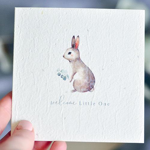 New Baby Plantable Gift Card - Rabbit